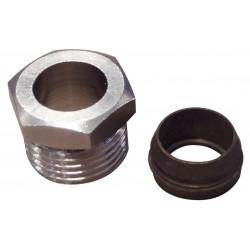 Raccord chromé avec cône laiton montage sur tube cuivre