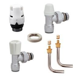 """Kit de branchement complet """"PUSH-FIT"""" pour radiateur raccords à glissement pour tube PB ou PER 13/16"""