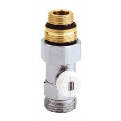 """Vanne droite simple en H pour radiateur robinetterie intégrée 1/2"""" et 3/4"""""""