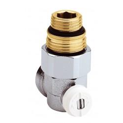 """Vanne droite équerre en H pour radiateur robinetterie intégrée 1/2"""" et 3/4"""""""