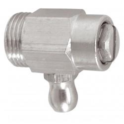 """Vidange radiateur laiton nickelé acier avec joint torique mâle 3/8"""""""