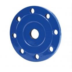 Bride taraudée métrique grand bossage 55x300 PN10/16 revêtue époxy bleu