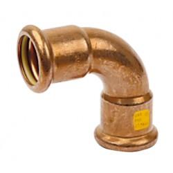 Raccords coude 90° cuivre à sertir femelle femelle spécial gaz et GPL
