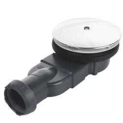 Bonde de douche ronde extra plate pour receveur Ø90mm