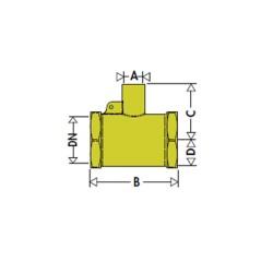 Té 3/4 femelle avec prise sonde M10x1