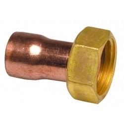 Raccord droit 2 pièces à souder/visser 359 GCL douille cuivre