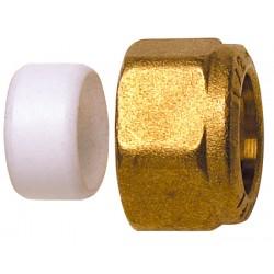 Ecrou + Cône PTFE C+ pour tube cuivre