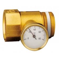 Porte-thermomètre pour entrée de collecteurs C+ laiton