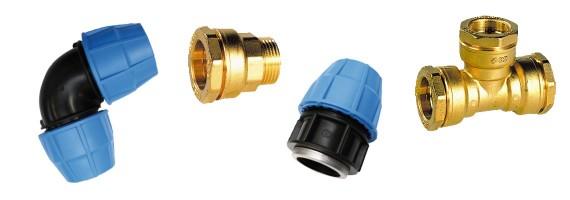 Raccords à compression pour tube polyéthylène et acier