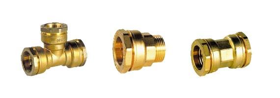 Raccords laiton DECA tube acier