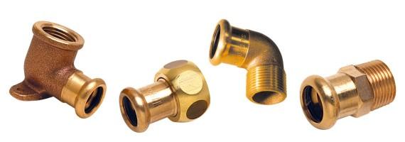 Raccords cuivre à sertir bronze - laiton