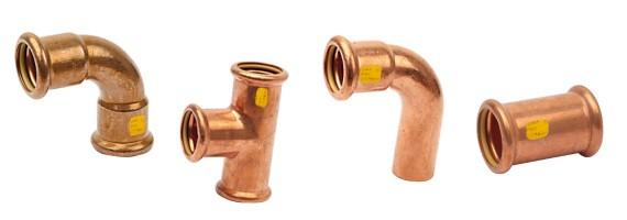 Raccords cuivre à sertir pour gaz et gpl