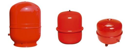 Vase d'expansion fermé cylindrique standard