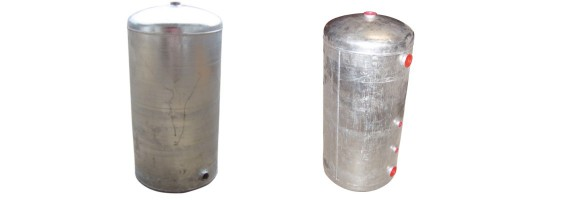 Vases d'expansion ouvert cylindrique
