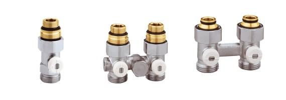 Vannes en H pour radiateurs à robinetterie intégrée